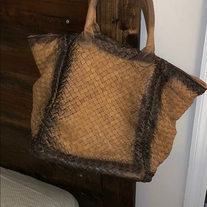 Genuine Leather Hand Woven Bag
